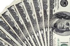 dollar 100 factureert dicht omhoog Stock Foto's