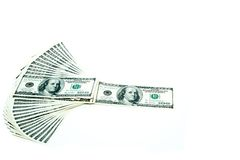 dollar 100 factureert ventilatorstapel Stock Fotografie