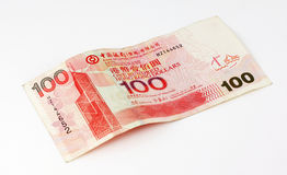 Dollar 100 van Hongkong Nota Royalty-vrije Stock Fotografie