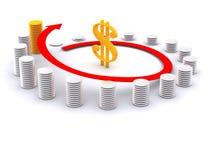 Dollar. Diagram with dollar sign. 3d Stock Photos
