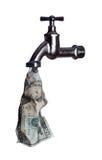 dollar 20 met kraan Royalty-vrije Stock Afbeelding