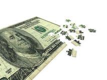 Dollar. Puzzle dollar on white background Royalty Free Stock Photography