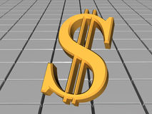 Dollar. One dollar. business. 3d object stock illustration