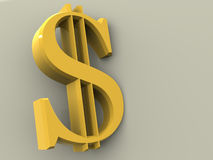 Dollar. Very beautiful graphic three-dimensional illustration. dollar. 3d Royalty Free Stock Images