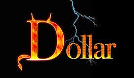 Dollar. Illustration with a Demon dollar Royalty Free Stock Photos