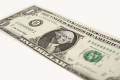 Dollar. One dollar on a white background Royalty Free Stock Photo