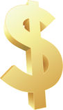 dollar 3D Illustration de Vecteur