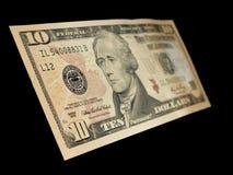 10 Dollar Lizenzfreies Stockbild