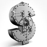 Dollar. Bank safe from american dollar sign