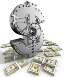 Dollar. Synthesis from dollar symbol and banking safe Royalty Free Stock Image