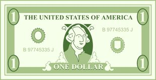 dollar royaltyfri illustrationer