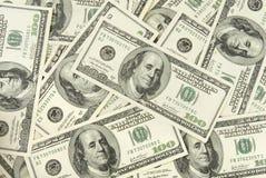 Dollar 7. Background close up of  one hundred dollars bills Stock Image