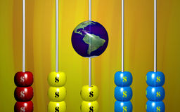 Dollar abacus Royalty Free Stock Photos