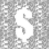 Dollar on abstract squares Royalty Free Stock Photography