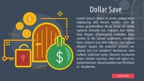 Dollar-Abwehr-Begriffsfahne Stockbild