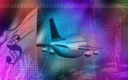 Dollar and aeroplane Stock Images