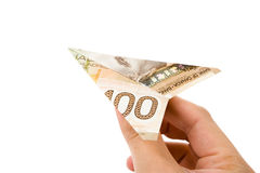 Dollar airplane Royalty Free Stock Image