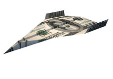 Dollar airplane Royalty Free Stock Photography