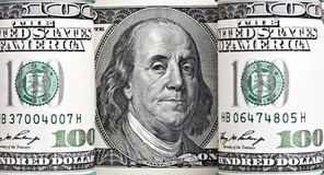 Dollar american green banknote roll. Royalty Free Stock Photo