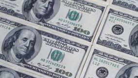 Dollar, amerikanische Banknoten drehen sich vektor abbildung