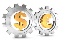 Dollar And Euro Cooperation Royalty Free Stock Image