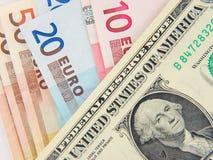 Dollar And Euros Royalty Free Stock Photos