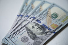 100 Dollar Anmerkungen Lizenzfreies Stockfoto