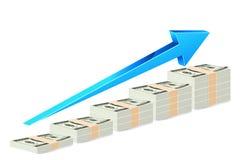 Dollar-Anmerkungs-Balkendiagramm stock abbildung