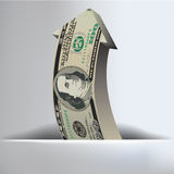 100 Dollar Arrow Background Stock Image