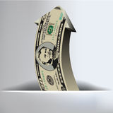 50 Dollar Arrow Background. For Print or Web Royalty Free Stock Photography