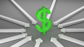 Dollar with Arrows stock footage