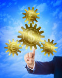 Dollar As Anchor For Euro, Franc And Pound Royalty Free Stock Photography