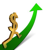 Dollar Ascending Royalty Free Stock Photo