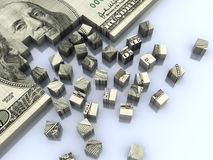 Dollar assembling Stock Photography