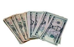 Dollar auf einem weißen Hintergrund Stockbilder