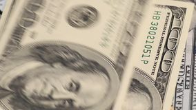 Dollar auf Laptoptastatur stock video