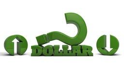 Dollar auf oder ab Lizenzfreie Stockbilder
