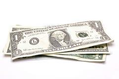 Dollar auf weißem Hintergrund Stockbilder