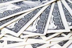 Dollar auf weißem Hintergrund Stockfotos