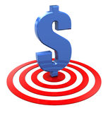 Dollar auf Ziel Stockfoto