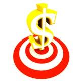 Dollar auf Ziel Lizenzfreies Stockfoto