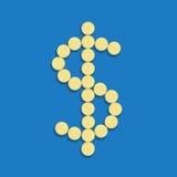 Dollar av preventivpillerar Royaltyfria Bilder