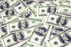 Dollar background. A photo of many dollars Royalty Free Stock Photo