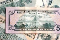 Dollar background. Dollar banknotes background, close-up shot Royalty Free Stock Image