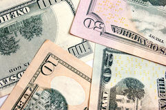 Dollar background. Dollar banknotes background, close-up shot Royalty Free Stock Photography