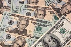 Dollar background. USA dollar bank notes background stock photo
