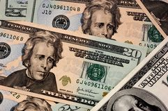 Dollar background. USA dollar background - close-up view Stock Image