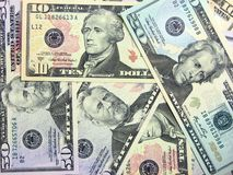 Dollar background Stock Images