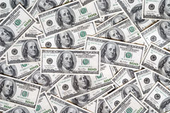 Dollar background. One hundred dollars, fine details Stock Photography