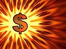 Dollar background Royalty Free Stock Photography